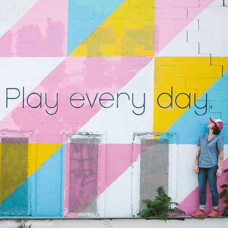Play Every Day Mural (25 Best Instagram Spots in Asheville NC) // localadventurer.com