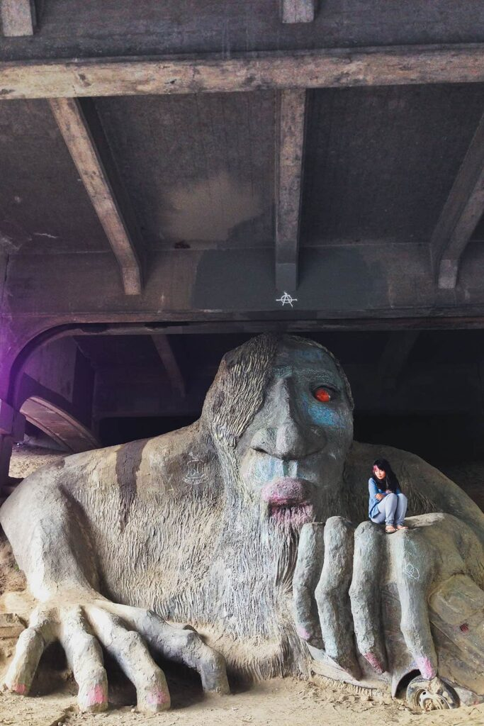 Fremont Troll + 101 Things to Do in Seattle Bucket List