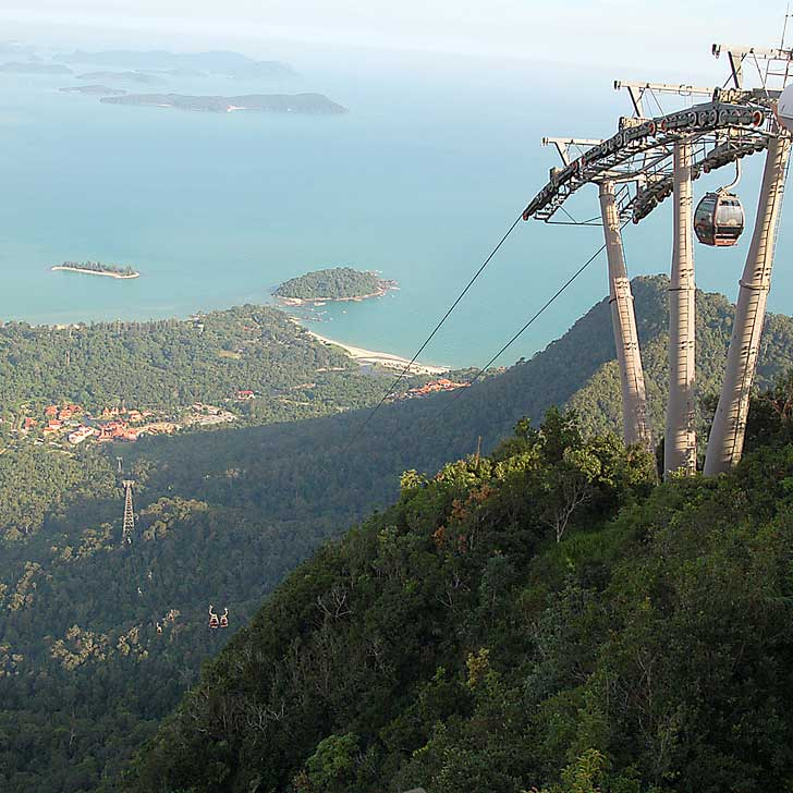 Langkawi cable car gives you breathtaking rainforest and ocean views. For 50 RM more, you can ride in gondola with a transparent glass floor // localadventurer.com