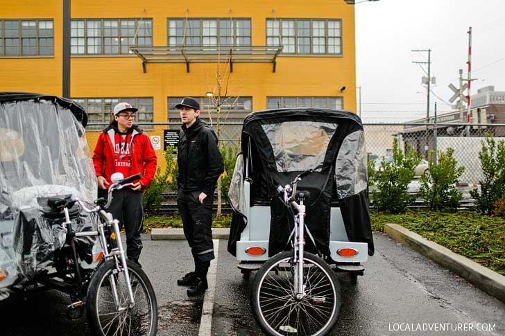 PDX Pedicab Distillery Row Tour // localadventurer.com