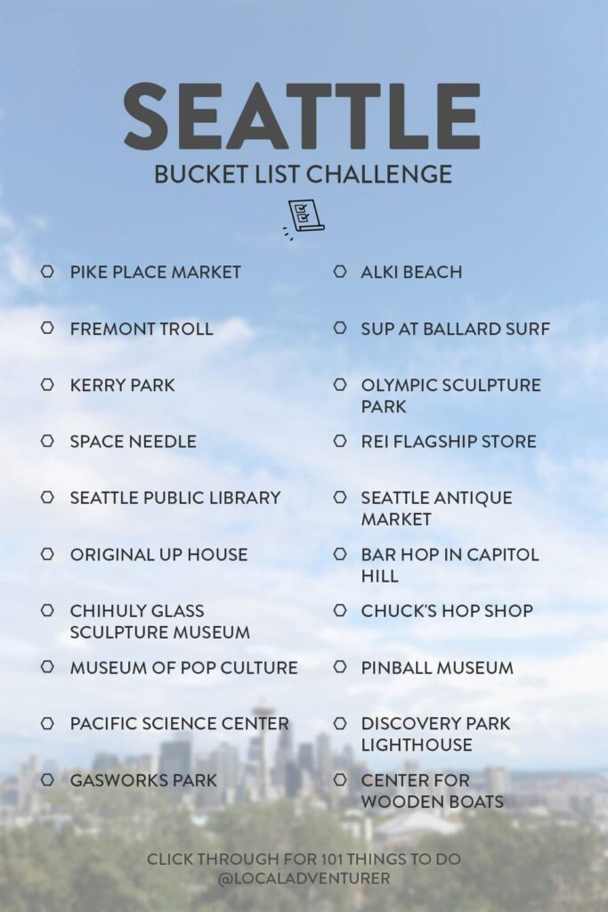 Seattle Bucket list Challenge