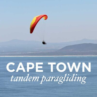 What You Need to Know About Cape Town Tandem Paragliding - one of the best things to do in Cape Town. You get a beautiful view Signal Hill, Lions Head, Table Mountain, and the ocean // localadventurer.com