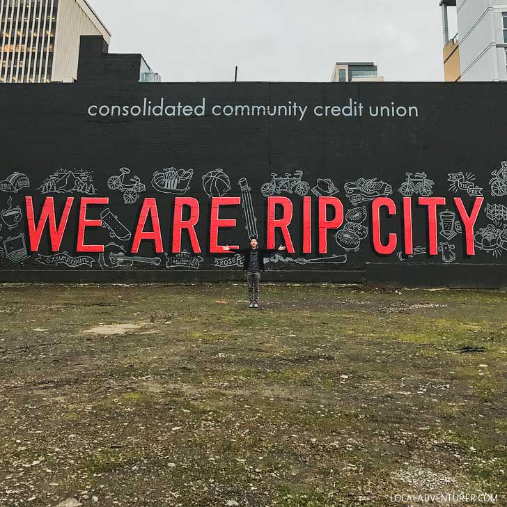 We Are Rip City Wall + Photoshoot Locations Portland Oregon // localadventurer.com