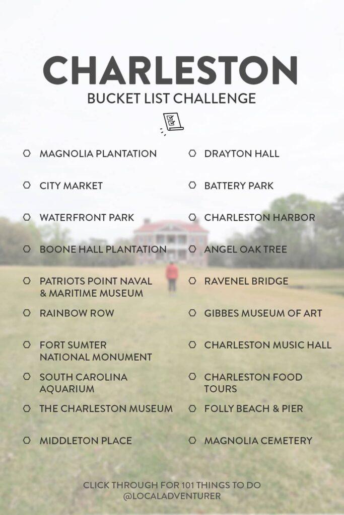 Charleston Bucket List Challenge