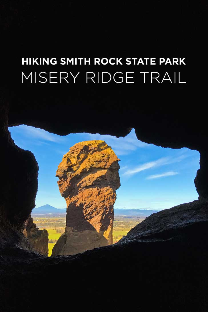 Misery Ridge Trail Smith Rock State Park Oregon - iconic hike in the park offers scenic views of Crooked River and Monkey Face. Check out detailed info on the hike here // localadventurer.com