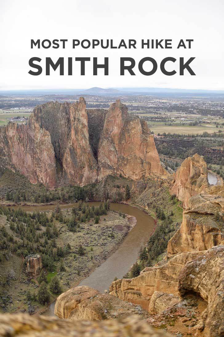Smith Rock Misery Ridge Trail Hike - iconic hike in the park offers scenic views of Crooked River and Monkey Face. Check out detailed info on the hike here // localadventurer.com