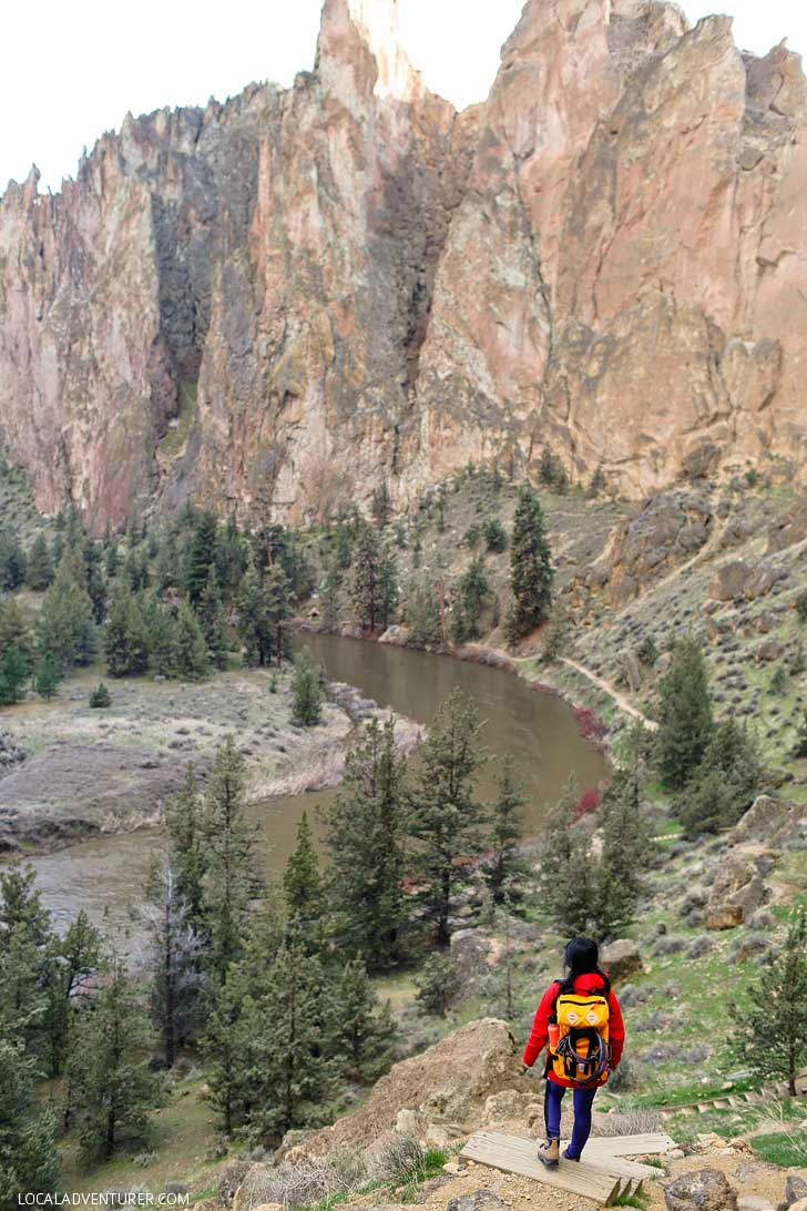 Smith Rock Trails - Hiking Oregon - great place to go rock climbing. It's the birthplace of sport climbing in the US, but also offers great hikes with scenic views. See the ultimate guide to the park here // localadventurer.com