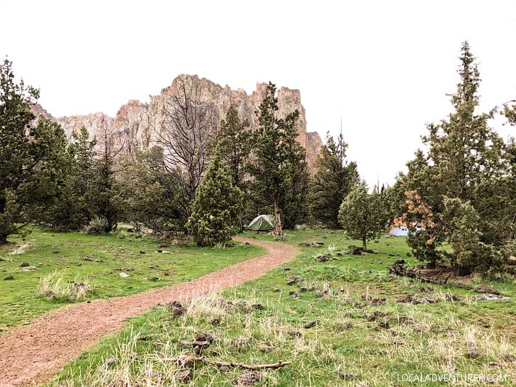 The Bivy Smith Rock State Park camping - Here's a guide to Smith Rock on what to do, where to stay, and more to help you plan your trip // localadventurer.com