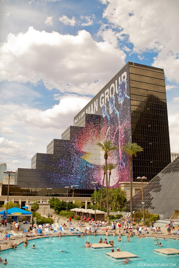 The Blue Man Group Luxor Hotel and Casino + Enter to Win Free Tickets // localadventurer.com