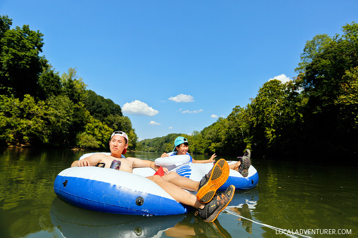 Favorite Summer Activity in Atlanta - Chattahoochee River Tubing - Everything You Need to Know About Shooting the Hooch // localadventurer.com