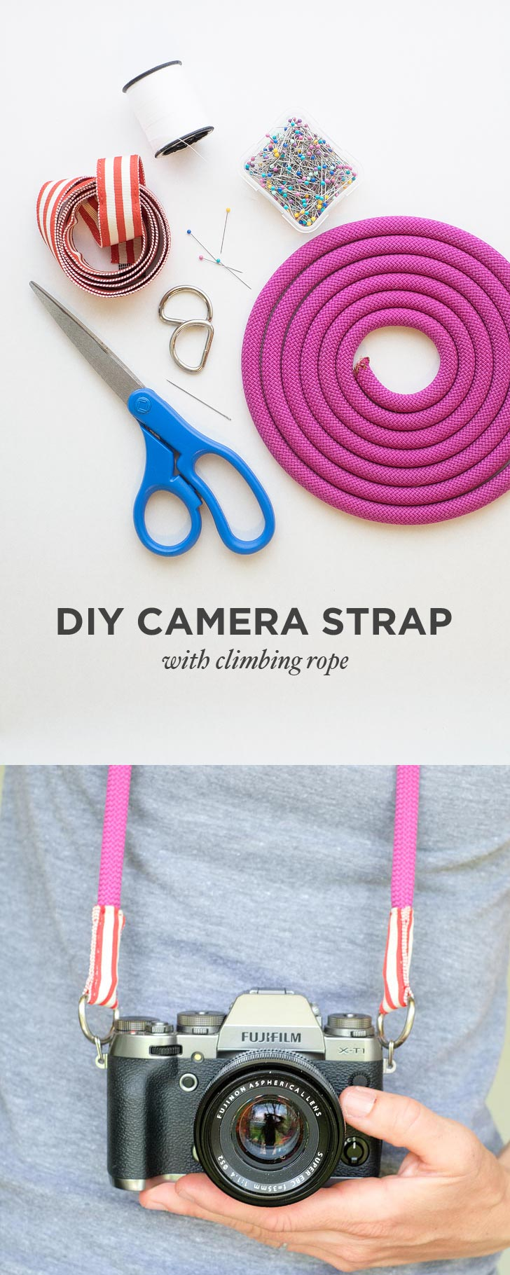 DIY Camera Strap with Climbing Rope // localadventurer.com