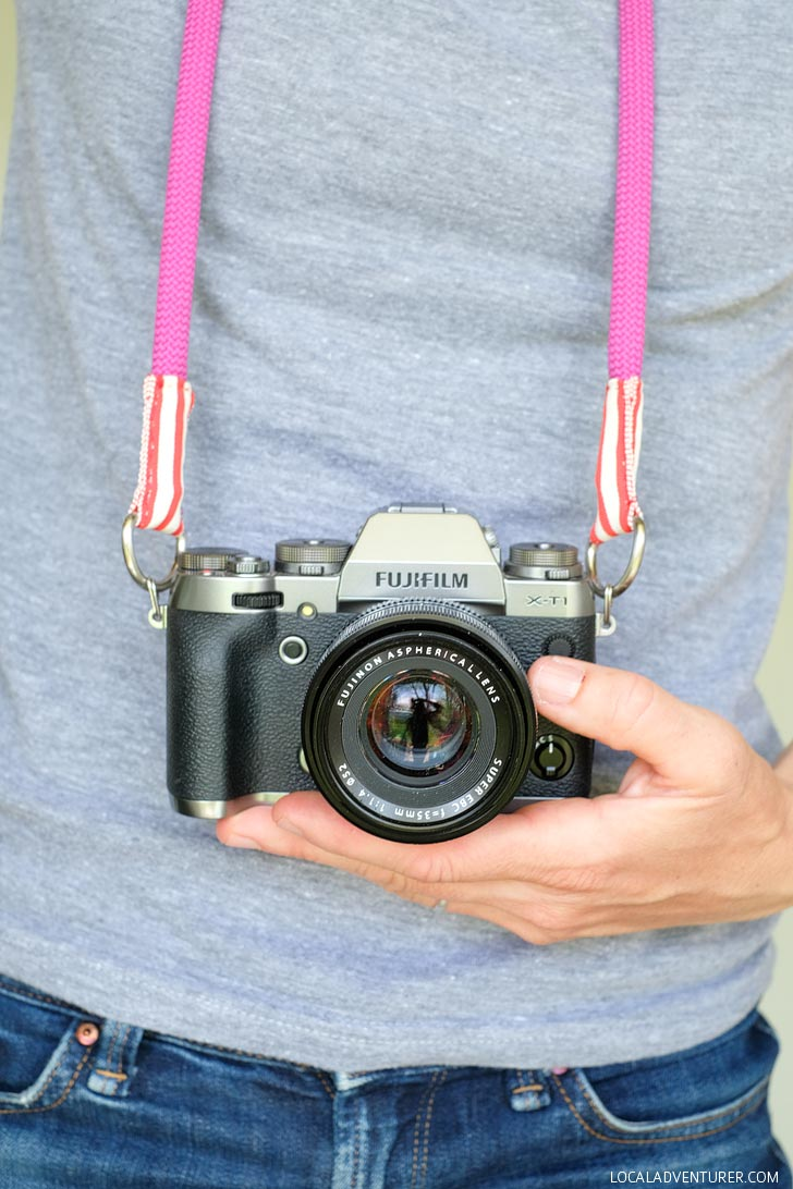 How to Make Camera Strap with Climbing Rope // localadventurer.com