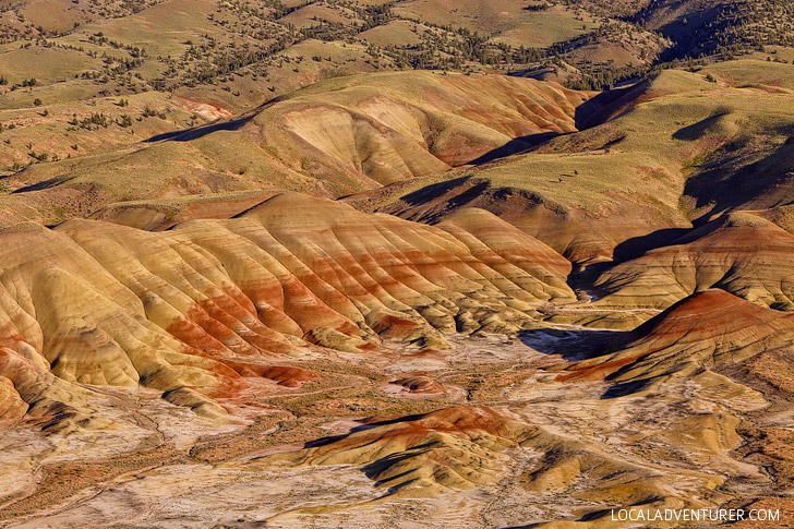 Panoramic Views of the Painted Hills from the Carroll Rim Trail + Everything You Need to Know About Visiting the Painted Hills Oregon // localadventurer.com