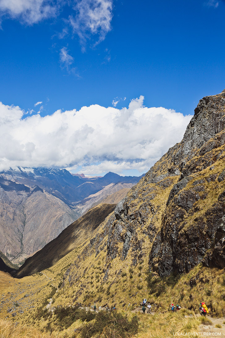 The Brutal Climb Up to Dead Woman's Pass - Highest Point Machu Picchu Trail // localadventurer.com