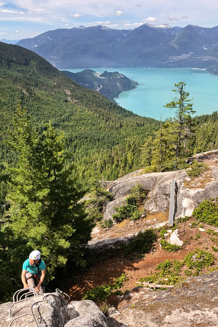 Squamish Via Ferrata BC Canada - a great introductory one for first timers and people scared of heights! // localadventurer.com