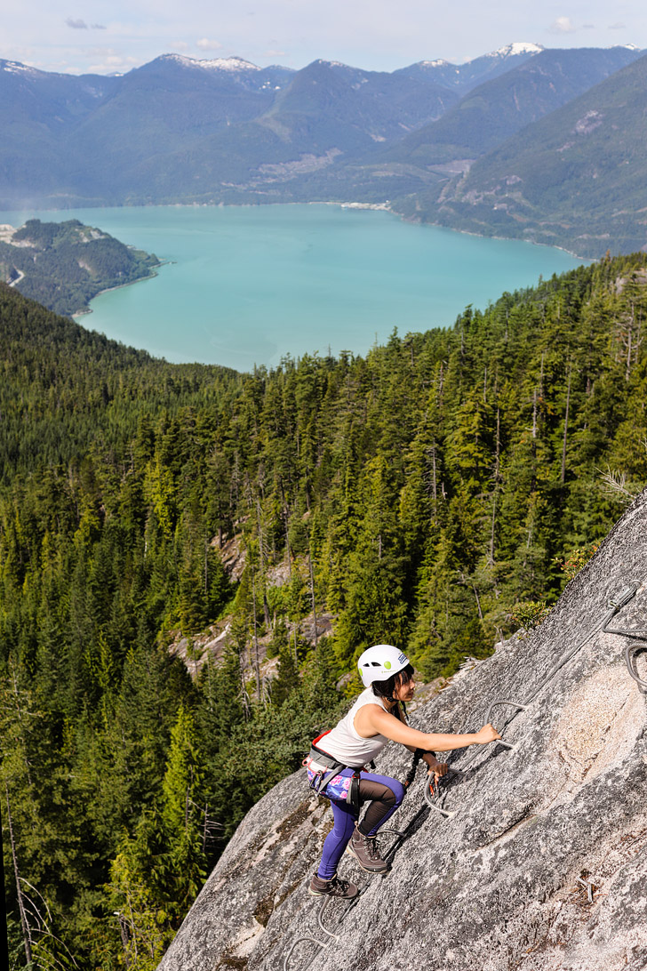 Squamish Via Ferrata Canada - a great introductory one for first timers and people scared of heights! // localadventurer.com