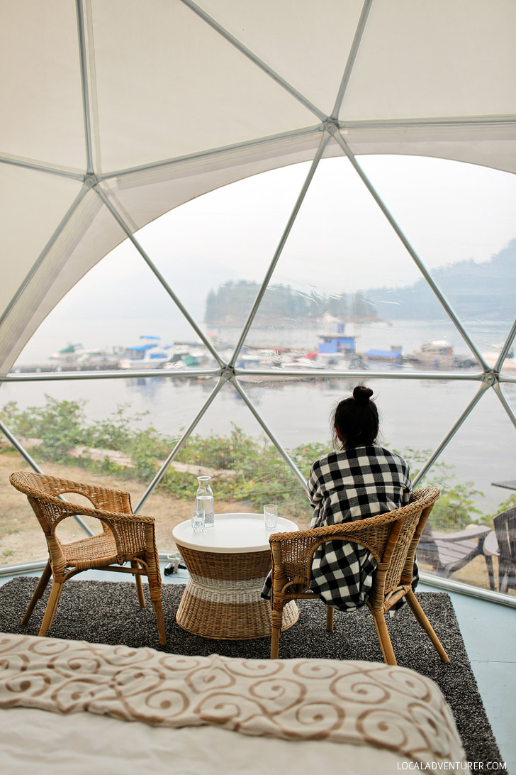 Glamping on the Sunshine Coast British Columbia Canada // localadventurer.com