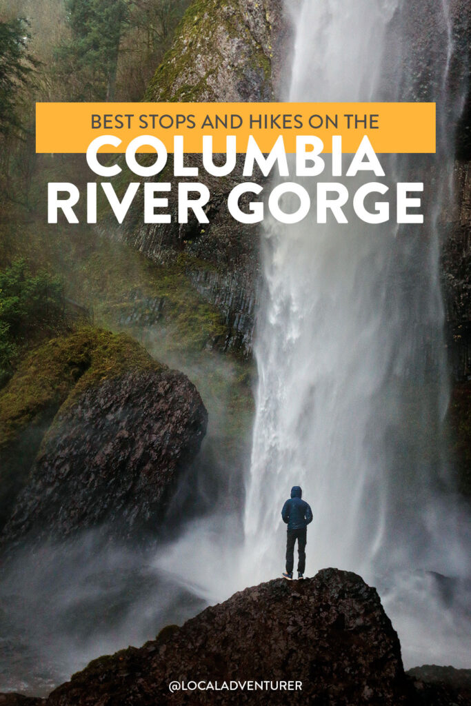 Best Hikes in the Columbia River Gorge Road Trip - Pictured here is Latourell Falls