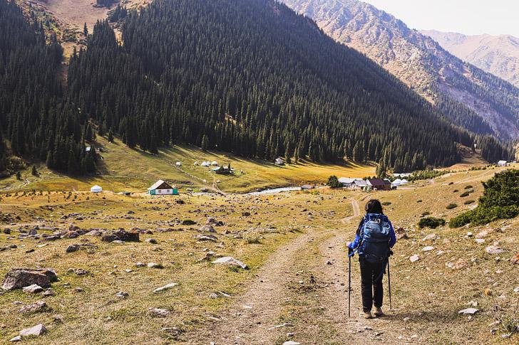 Kyrgyzstan Hiking Day 3 - Hiking to Altyn Arashan // localadventurer.com