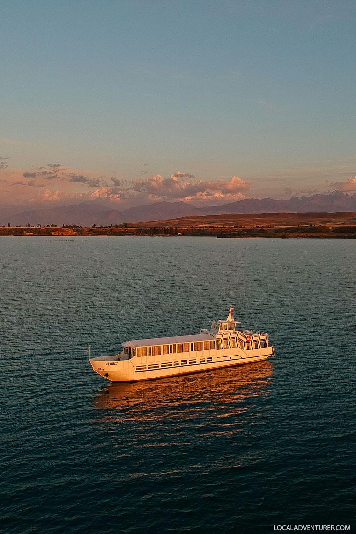 Issyk Kul Lake Sunset Cruise from Karakol Kyrgyzstan // localadventurer.com