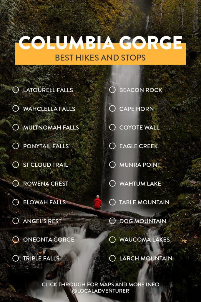 Check List of Columbia River Gorge Hikes