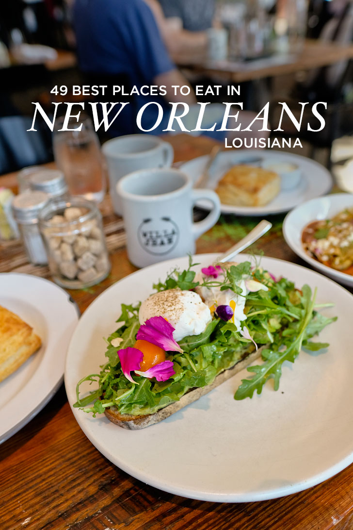 49 Best Places to Eat in New Orleans - from new award winning restaurants to legendary tried and true ones // localadventurer.com