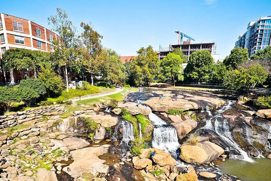 Greenville SC Waterfall Park + 15 Best Weekend Trips from Atlanta GA
