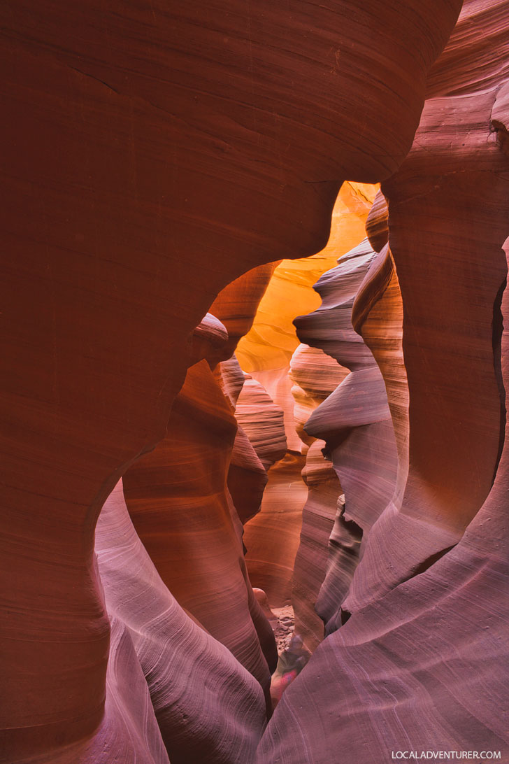 Your Complete Guide to Page Arizona Antelope Canyon - Upper vs Lower Antelope Canyon Photography Tours vs Standard Tours, Permits, Reservations, Photography Tips, and More // localadventurer.com