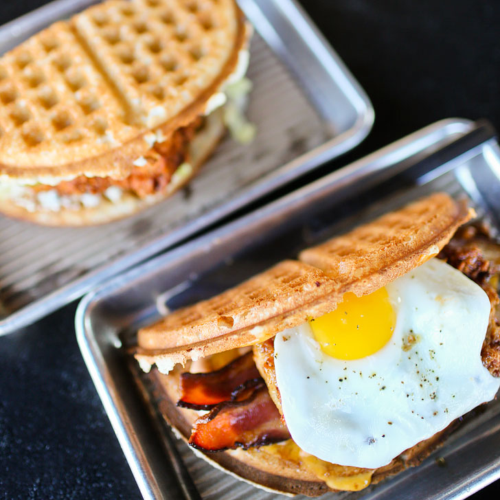 Bruxie Waffle Sandwiches + Best Places to Eat in Irvine CA // localadventurer.com