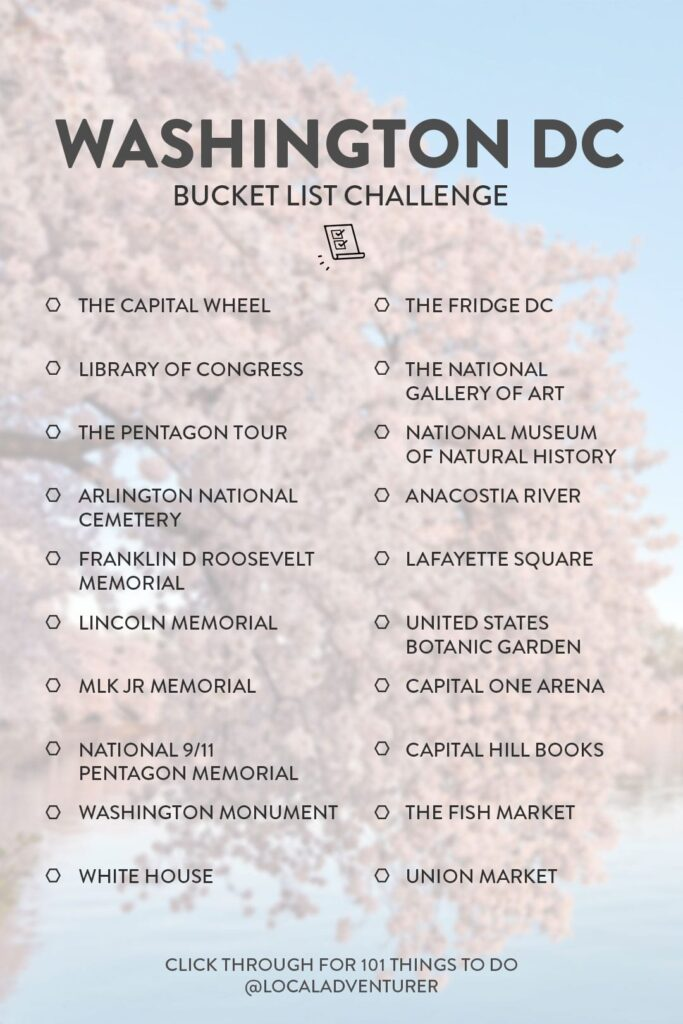 DC Bucket List Ideas
