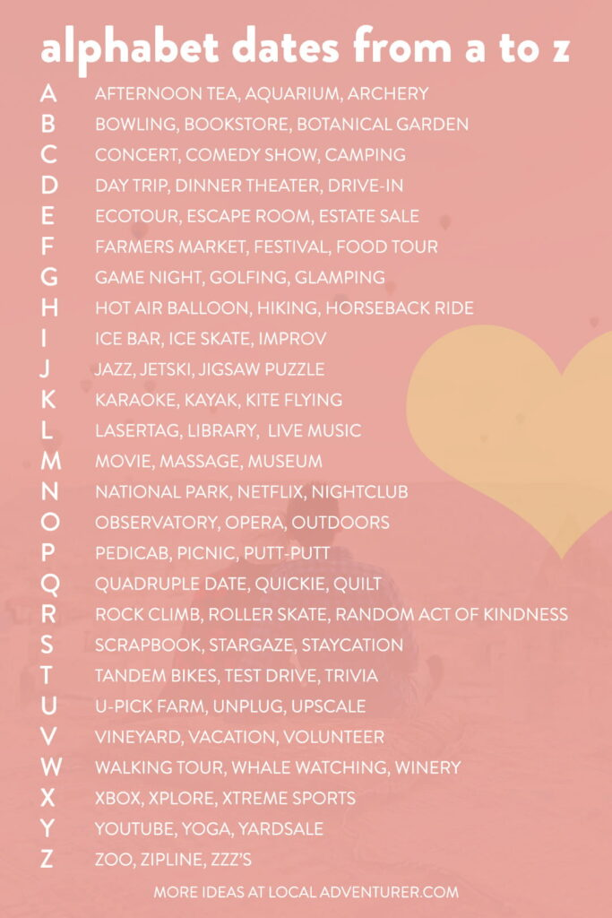 A to Z Date Ideas