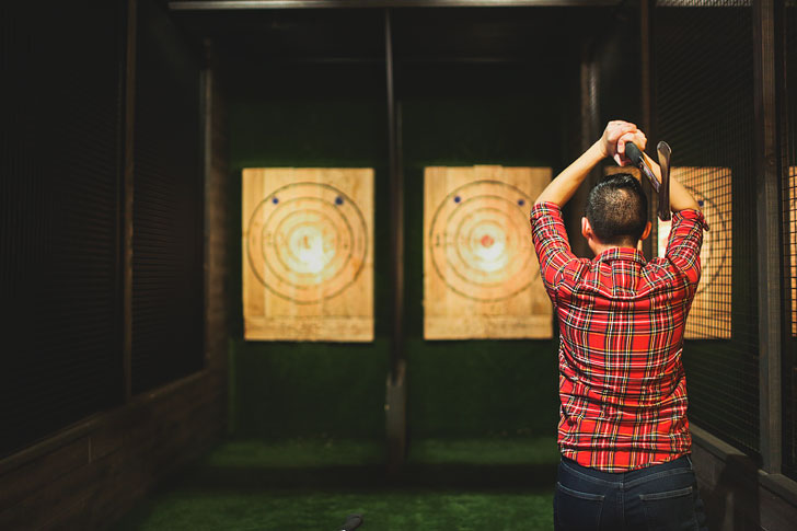 Kick Axe Bar in Gowanus Brooklyn with axe throwing + 25 Best Indoor Attractions in NYC // Local Adventurer