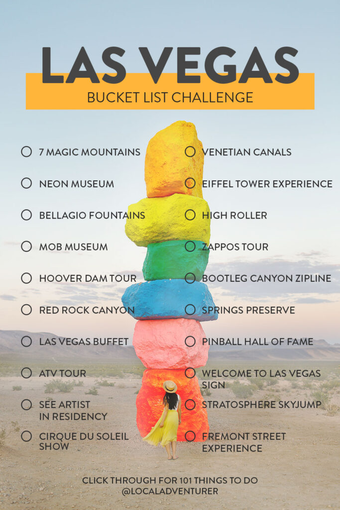 Click through for 101 Things to Do - Your Ultimate Las Vegas Bucket List Challenge // Local Adventurer