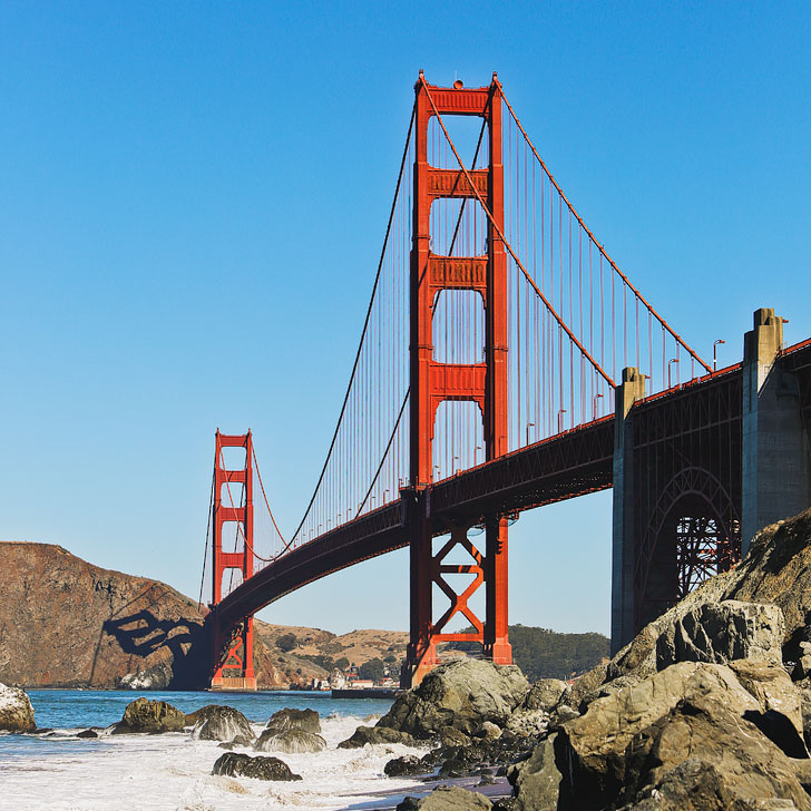 Can't visit SF without visiting the Golden Gate Bridge + Best Places to Stop on Your Los Angeles to Seattle Road Trip // Local Adventurer