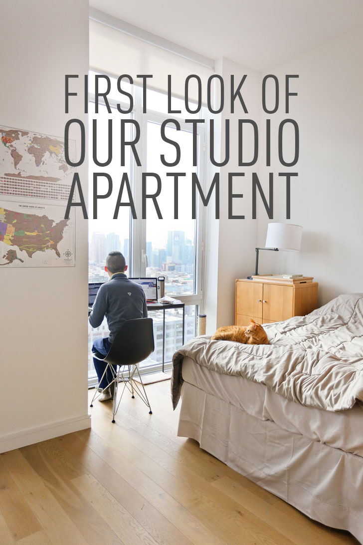First look of our new studio apartment in nyc local for Affordable furniture for first apartment