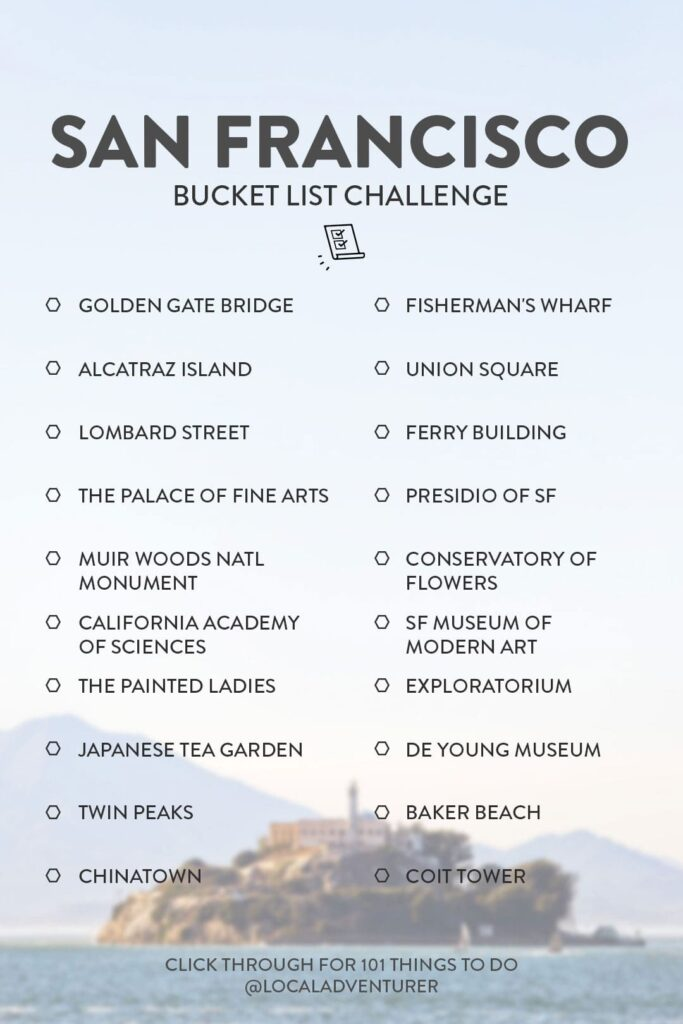San Francisco Bucket List Challenge