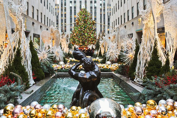 Camera Rockefeller Center : U ᴷu u walking nyc first snow of the season th ave rockefeller