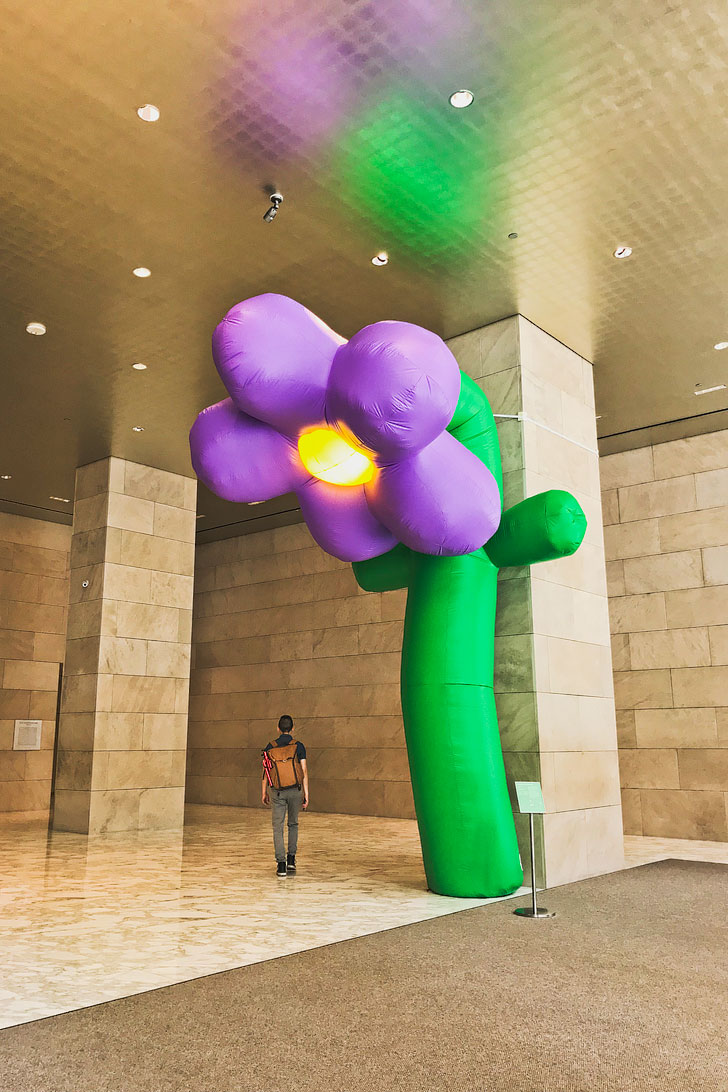 Hippodrome NYC in Midtown - Grown Up Flowers Art Installation by Playlab // Local Adventurer #nyc #newyork