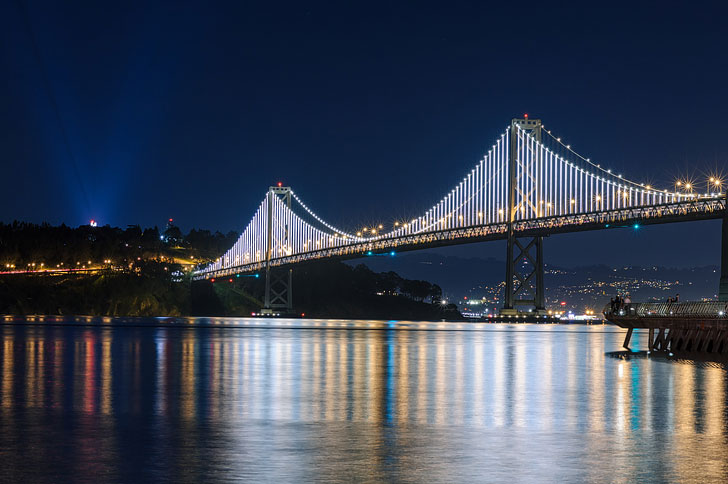 Bay Lights in San Francisco + 25 Free Things to Do in SF Bay Area // Local Adventurer (photo: Eric Kilby) #sf #sanfrancisco #california