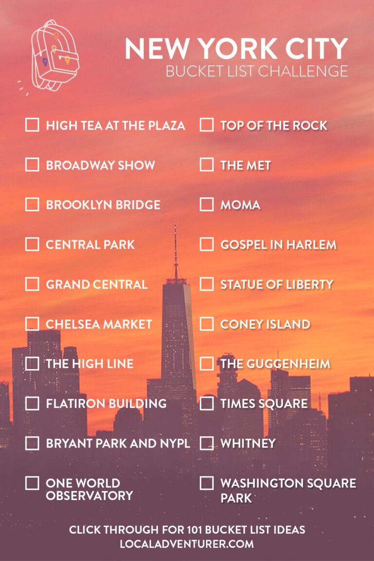 NYC Bucket List Challenge - Click through to see 101 Things to Do in New York City // Local Adventurer