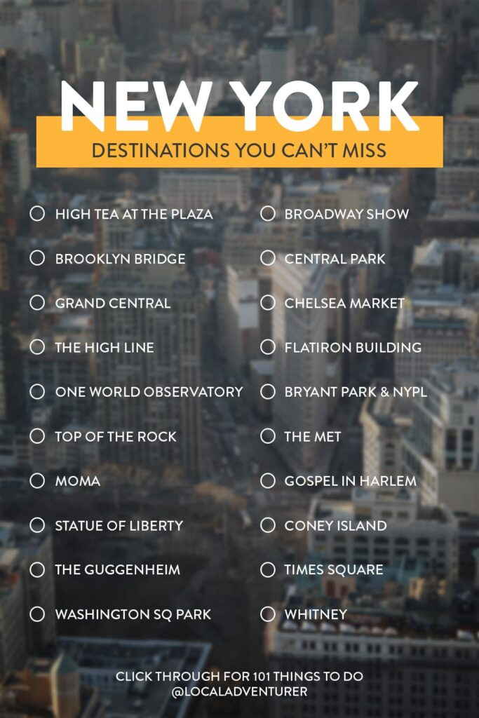 NYC Places to Visit
