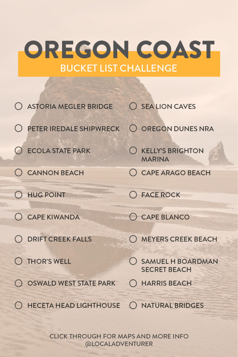 Oregon Coast Attractions Bucket List Challenge