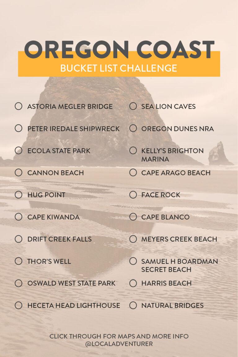 Oregon Coast Attractions Bucket List Challenge