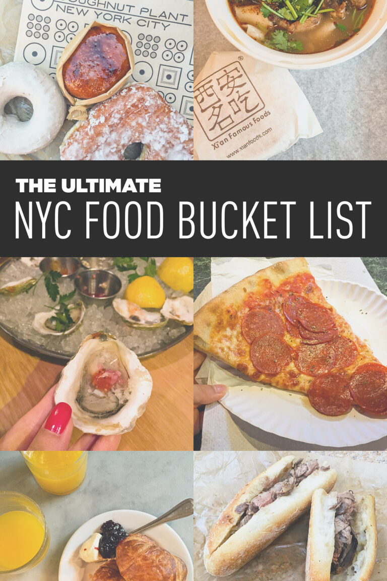 Ultimate NYC Food Bucket List