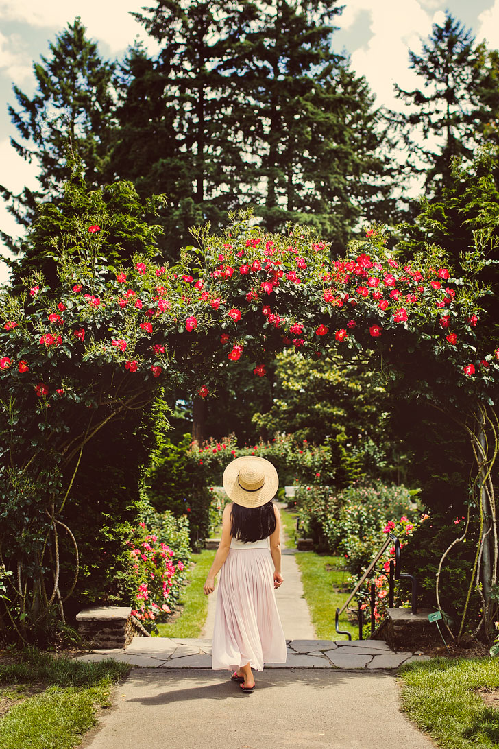 International Rose Test Garden in Portland Oregon - A must visit if you're there during peak season. Click through to see tips for your visit // Local Adventurer #pdx #portland