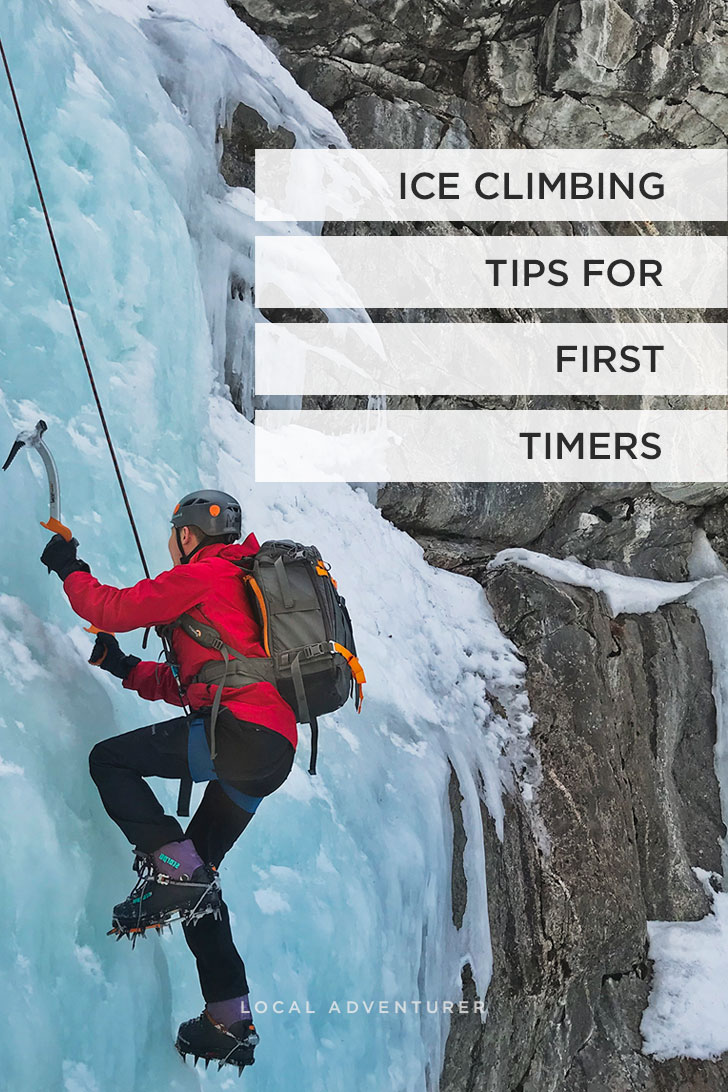 Do you want to try ice climbing for the first time? Check out our Intro to Ice Climbing. Photo: Ice Climbing Jasper National Park at Edge of the World // Local Adventurer #jasper #jaspernationalpark