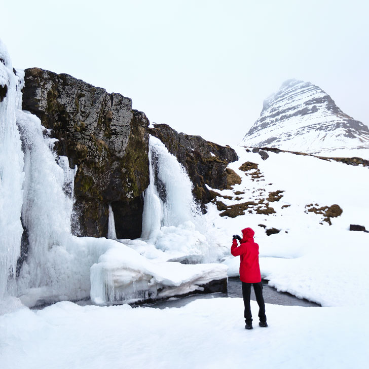 Kirkjufell Mountain and Kirkjufellfoss, Snaefellsnes Peninsula, West Iceland - Are you traveling to Iceland? Check out these 5 amazing Reykjavik day trips to add to your Iceland bucket list // Local Adventurer #reykjavik #iceland #roadtrip