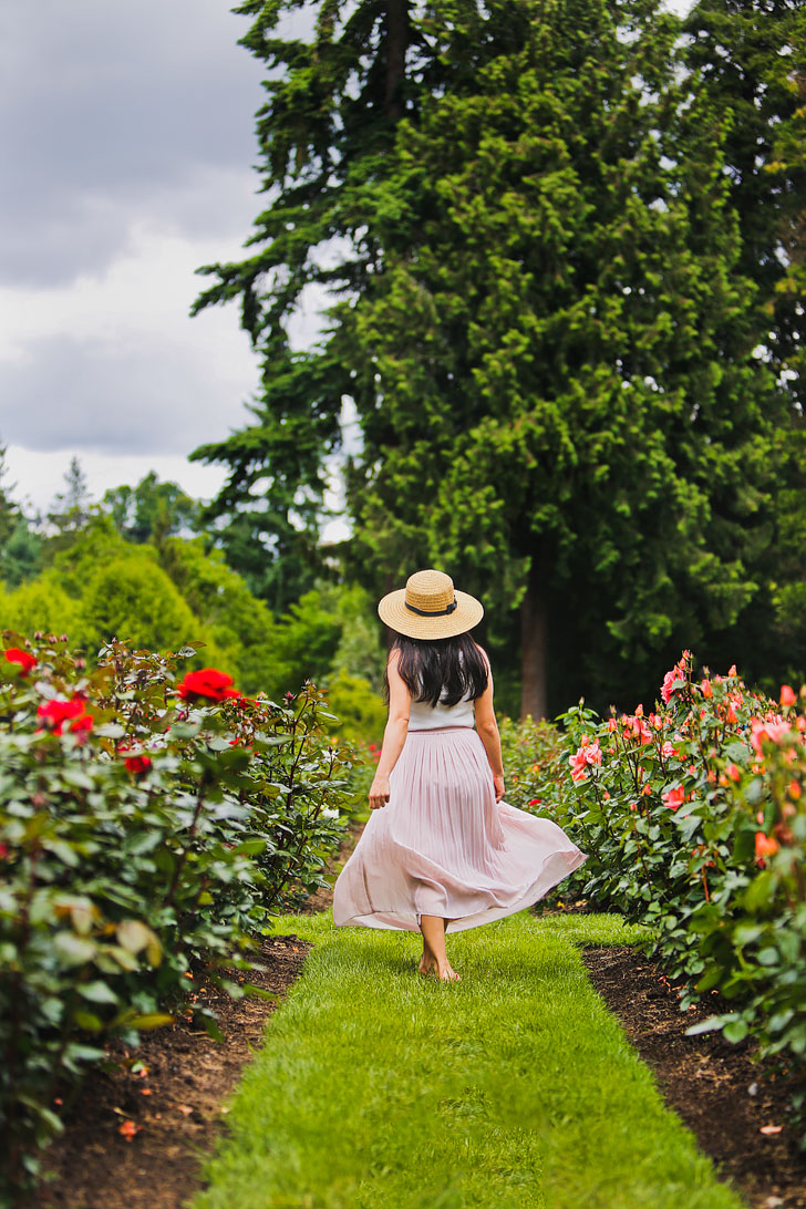 One of the most popular things to do in Portland is the visit the International Rose Test Garden - Click through to see more photos and tips // Local Adventurer #pdx #portland