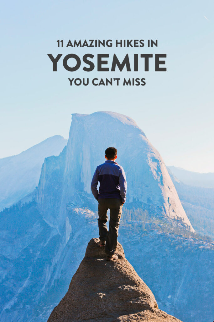 Taking a trip to Yosemite National Park? Save this pin and click to see details on the 11 best hikes in Yosemite National Park you can't miss. These Yosemite hiking trails are also some of the best hikes in California and the US that you'll want to add to your hiking bucket lists. They take you to the park's most beautiful places and scenic views. // Local Adventurer #localadventurer #yosemite #california #nationalpark #visitcalifornia #visitca #findyourpark