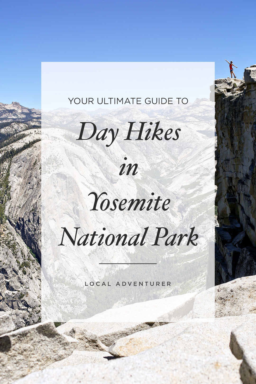 Visiting Yosemite National Park? Save this pin and check out these 11 best day hikes in Yosemite National Park. These Yosemite hiking trails are also some of the best hiking trails in California and the US that you'll want to add to your hiking bucket lists. They take you to some of the most beautiful places and best views in Yosemite. They include North Dome, Cathedral Lakes, Half Dome, and more. // Local Adventurer #localadventurer #yosemite #california #nationalpark #visitcalifornia #visitca #findyourpark